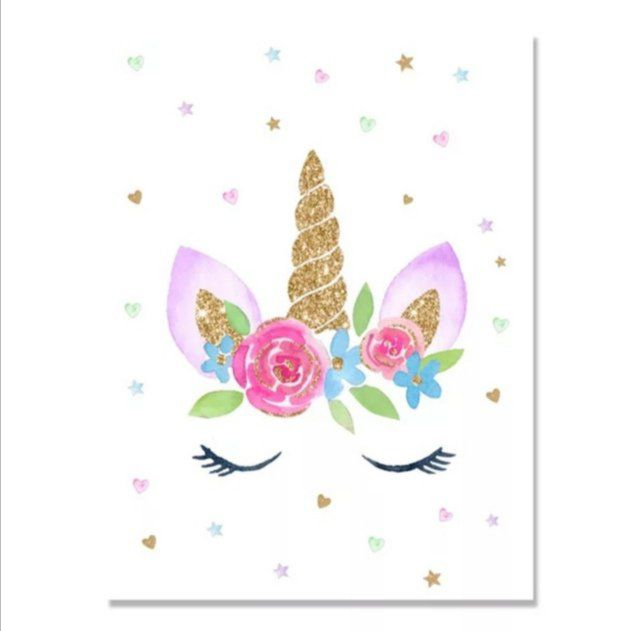 Broderie diamant Licorne - 40x50 cm - complète - diamants ronds
